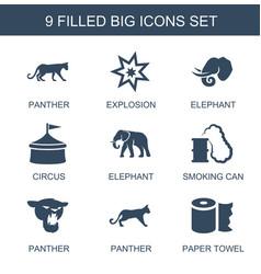 9 big icons vector