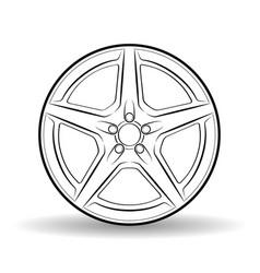 Auto disk white vector