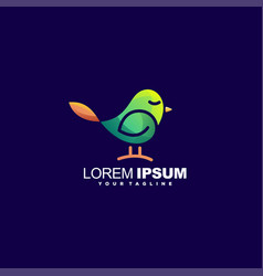awesome cute bird logo design vector image