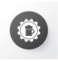 Badge icon symbol premium quality isolated beer vector