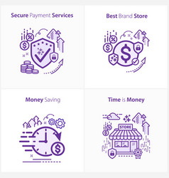 Banking and finance secure payment services best vector