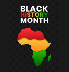 Black history month banner of vector