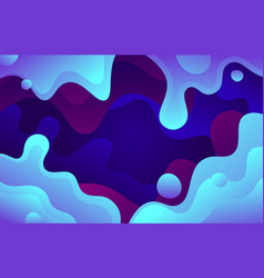 blue abstract liquid shape background vector image