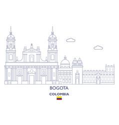 Bogota city skyline vector