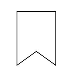 Bookmark black color icon vector