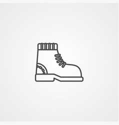 boot icon sign symbol vector image