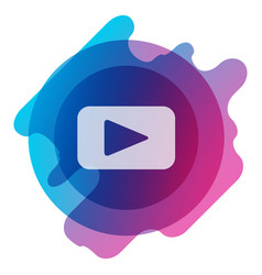 button video player social media youtube vector image