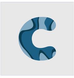 C water font template design vector
