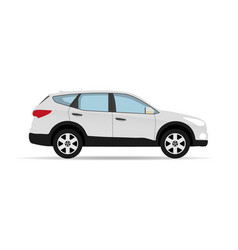 car crossover with shadow vector image