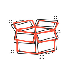 cartoon packaging box icon in comic style vector image
