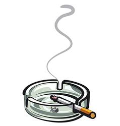 Cigarette in ashtray vector