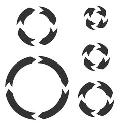 circle arrows black flat signs vector image