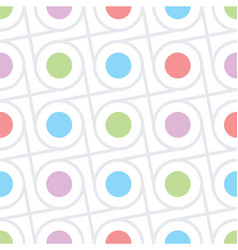 Circles and dots seamless texture vector