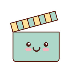 Clapper board kawaii character vector