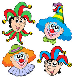 clowns head collection 2 vector image