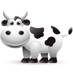 cow cartoon isolated vector image vector image