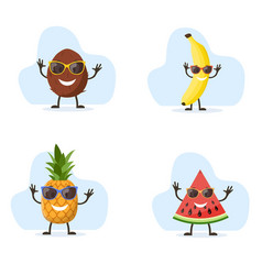 cute and funny pineapple character vector image