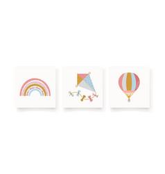 Cute with rainbow kite hot air vector