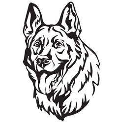 decorative portrait of dog shepherd 3 vector image