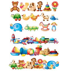 Different types of toys vector