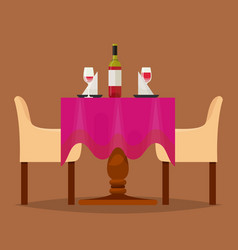 dining tables in restaurant set lunch vector image