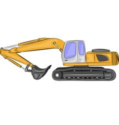 excavator b vector image