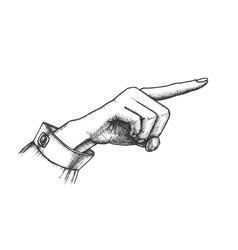 female hand finger showing choice gesture vector image