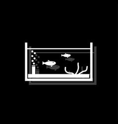 fish aquarium icon flat vector image