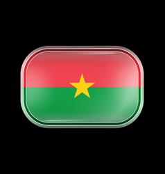 Flag burkina faso matted icon vector