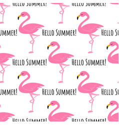 flamingo seamless pattern background vector image