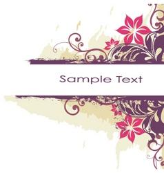 floral grunge border vector image