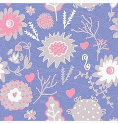 Floral seamless tender pattern vector