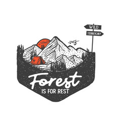Forest is for rest 2 vector