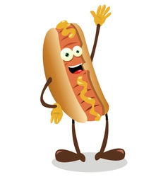 Funny hot dog vector