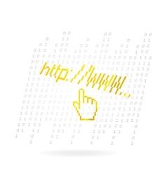 Glass web hand vector