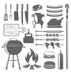 Grill set vector