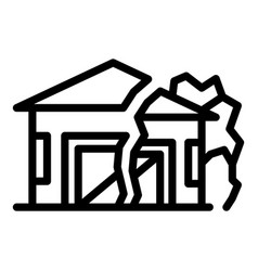 Ground house erosion icon outline style vector