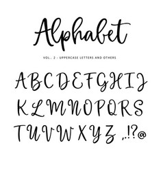 hand drawn alphabet font isolated letters vector image