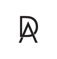 Letters ad arrow design logo vector