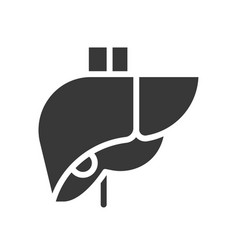 Liver healthcare and medical related solid icon vector