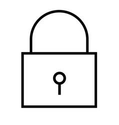locked icon vector image