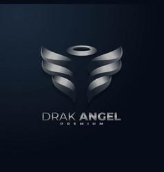 Logo dark angel gradient colorful style vector