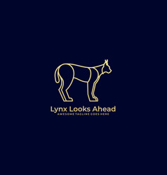 lynx looks ahead template vector image