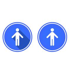 Man round flat icon stickman icon isolated on vector