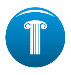 Marble column icon blue vector