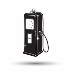 monochrome petrol station icon vector image