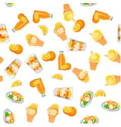 Orange ice cream vector
