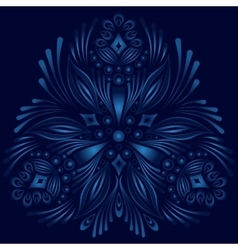 ornamental floral element Vintage style vector image