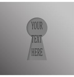 Paper Banner Design Mockup Keyhole open vector image
