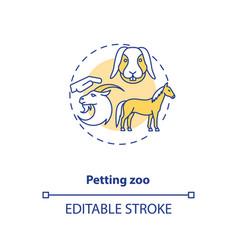 Petting zoo concept icon vector